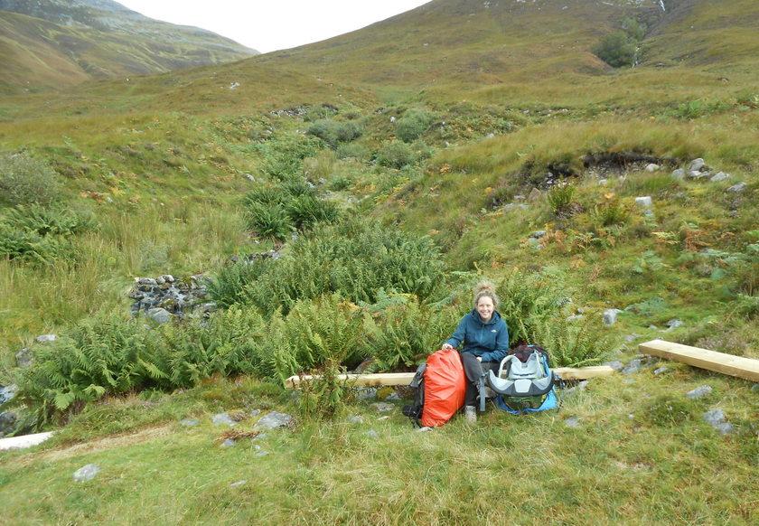 Marie op de West Highland Way