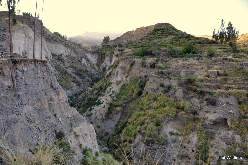 De Colca Canyon in de Andes