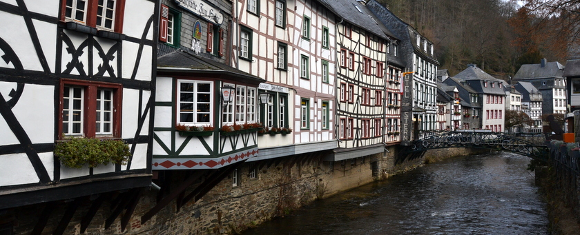 naar monschau in de winter