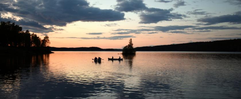nachtvaren in het zweedse dalsland