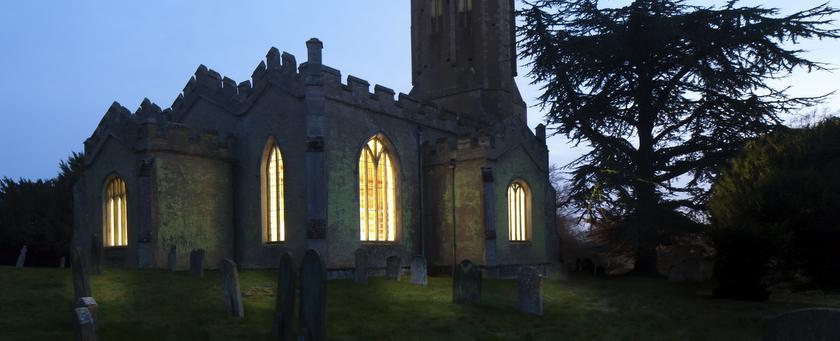 Champing: kamperen in een kerk