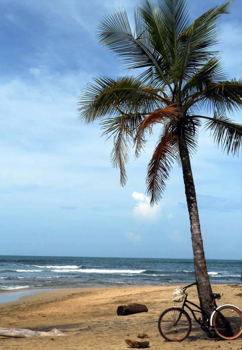 Eenzame stranden Costa Rica